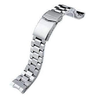 ストラップコード腕時計ブレスレット20mmヘキスター316lステンレススチールウォッチバンド用セイコー相撲sbdc001、vクラスプボタンダブルロック