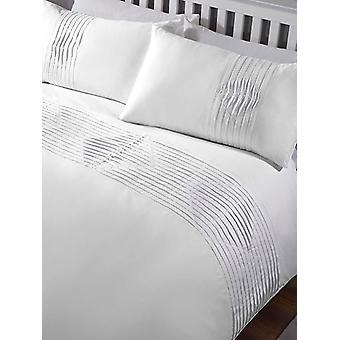 Boston Duvet Cover and Pillowcase Bed Set - Individual, Blanco