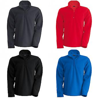 Kariban Mens Enzo 1/4 Zip Fleece Top