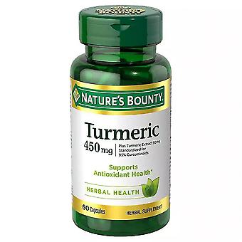 Nature's bounty kurkuma, 450 mg, capsules, 60 ea