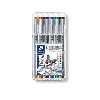 Staedtler pigment liner fineliner - Box 0,3 mm 6 colors 30803-SSB6