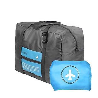 Sammenleggbar Duffel bag med oppbevaringspose - blå