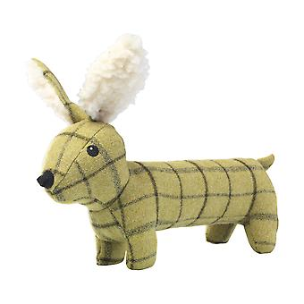 House Of Paws Plush Tweed Hare Long Body Dog Toy