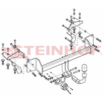 Steinhof Towbar (fixes 2 bolts) for Suzuki LIANA Estate 2001-2007