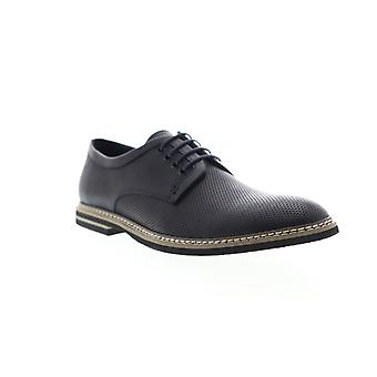 English Laundry Canning  Mens Blue Leather Dress Lace Up Oxfords Shoes