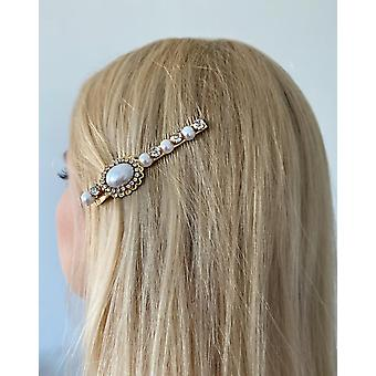 Unique hairpin with beads and rhinestones 1 charm