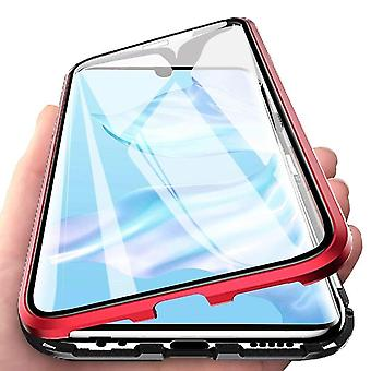 Magnetic shell for Huawei P30 Pro with screen protector - red