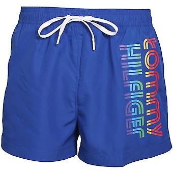 Tommy Hilfiger Pride Raidat Side Logo Athletic Swim Shortsit, Koboltti Sininen