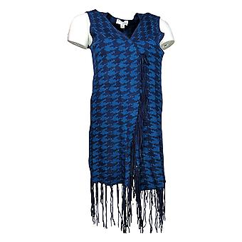Women with Control Women's Sweater Vest w/ Fringe Detail Blue A267390