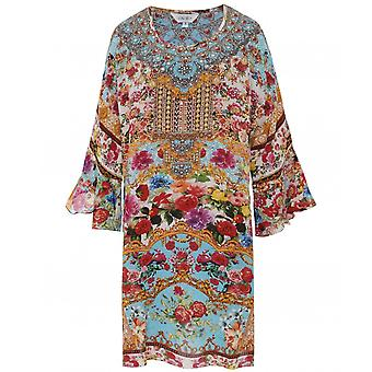 Inoa Covent Garden Short Silk Frill Sleeve Kaftan