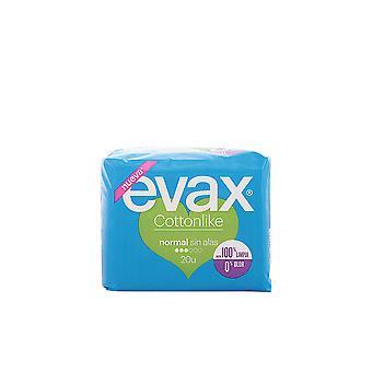 Evax Cottonlike Compresas Normal Sin Alas 20 Uds för kvinnor