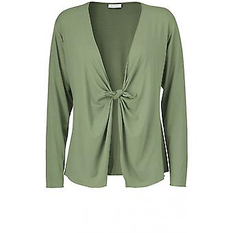 Masai Kleidung Itally Green Jersey Cardigan