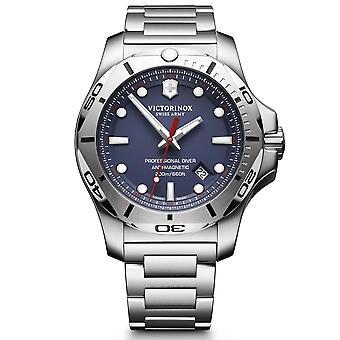 Victorinox Sveitsin armeija I.N.O.X Ammatillinen Sukeltaja Sininen Dial Hopea Ruostumattomasta teräksestä Rannekoru Men's Watch 241782