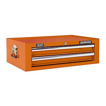 Sealey Ap26029To Add-On Chest 2 Drawer With Ball Bearing Runners - Orange