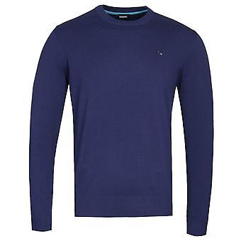 Diesel K-Pablo Navy Knitted Sweater