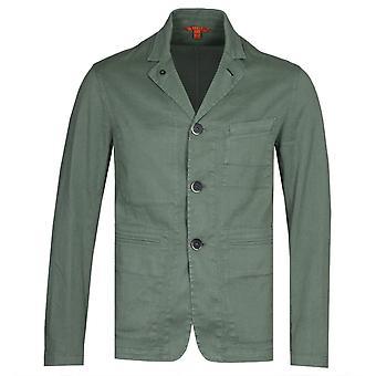 Barena Sage Green Linen Canal Shirt