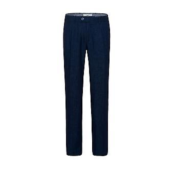 Brax Evans Linen Trouser Navy