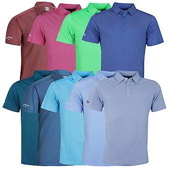 Callaway Golf mens 2020 SS 2 kleur Fashion Jacquard wicking stretch Polo shirt