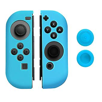 Silicone Soft Case Cover Skin Rubber Cap for Nintendo Switch[Blue]