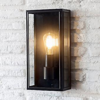 Hage handel Belgrave stor utvendig vegg lanterne i carbon svart