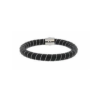 MANUEL ZED Black Leather Bracelet