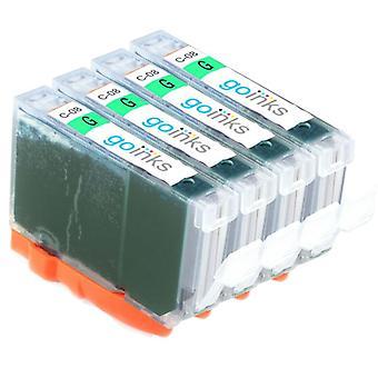 4 Grüne Tintenpatronen als Ersatz für Canon CLI-8G Compatible/non-OEM von Go Inks