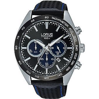 Reloj de pulsera Lorus RT309GX-9 Black Leather Chronograph
