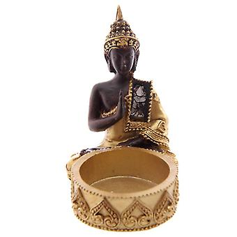 Thai Buddha Gold and Brown Tealight Holder