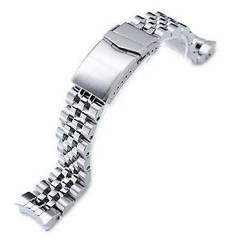 Strapcode watch bracelet 22mm super oyster 316l stainless steel watch band for orient mako ii & ray ii, wetsuit ratchet buckle