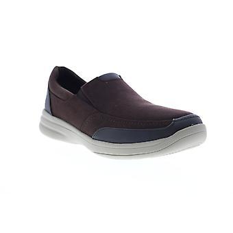 Clarks Stepstrolledge Herren Braun Breit 2E Lifestyle Sneakers Schuhe