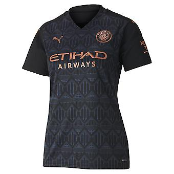 Puma Manchester City 2020/21 Womens Short Sleeve Away Football Shirt Black