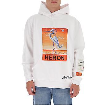 Heron Preston Hmbb010f20jer0090120 Men's White Cotton Sweatshirt