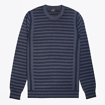 PS Paul Smith  - Stripe Crew Neck Pullover - Blue