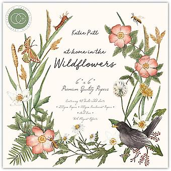 Craft Consortium hjemme i Wildflowers 6x6 Tommer Paper Pad