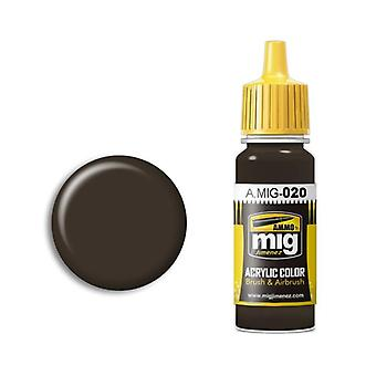 Ammo by Mig Acrylic Paint - A.MIG-0020 6K Russian Brown (17ml)