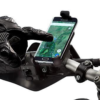 Motorcycle universal one adjustable holder with handlebar mount kit