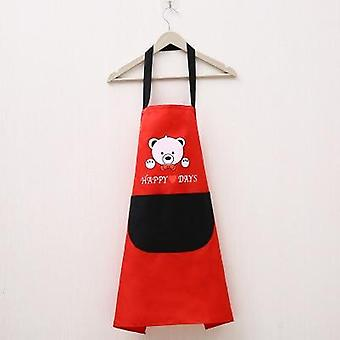 Striped Waterproof Polyester Apron Woman Adult Bibs Home Cooking Baking Coffee Shop Cleaning Aprons Kitchen Accessory