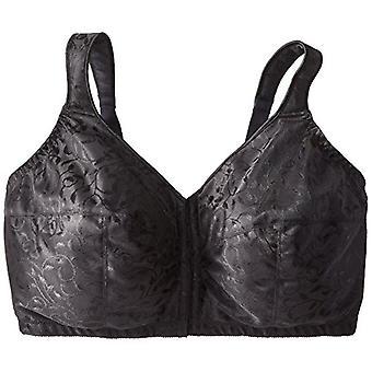 Just My Size Women's Front Close Soft Cup Plus Size Bra (1107), Noir, 46DD