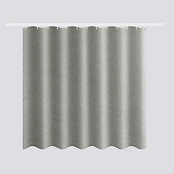 Thickened Imitation Linen Shower Curtains