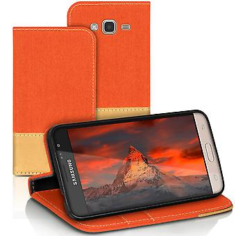 Samsung Galaxy J3 (2016) Mobile Case voller Abdeckung Mobile Cover Leatherette Mobile Jeans