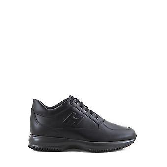 Hogan Hxm00009042klab999 Men's Black Leather Sneakers