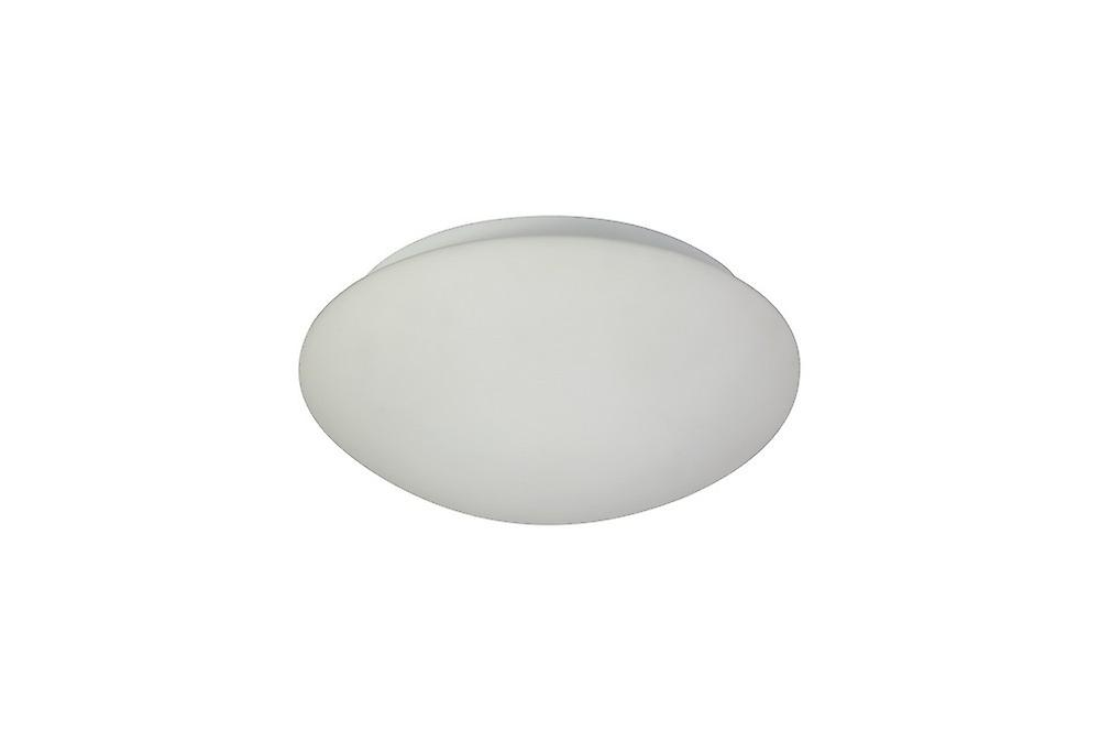 Luminosa Lighting - Flush Ceiling, 1 x 18W LED, 3000K, 872lm, IP44, White, Frosted Glass