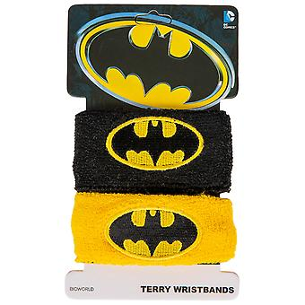 Batman Classic Symbol Two-Pair Pack of Wristbands