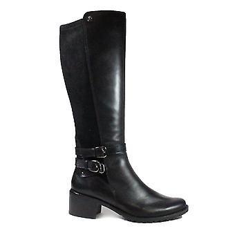 Caprice 25507 Black Leather Womens Long Leg Boots