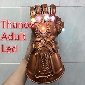 Led Light Iron Man Thanos Stone Cosplay Gloves Tony Stark Superhero Props Pvc Kid Gift
