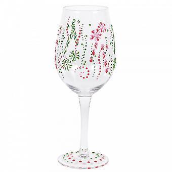 Candy Cane Wine Glass