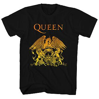 Queen T Shirt Golden Gradient Crest Queen Shirt