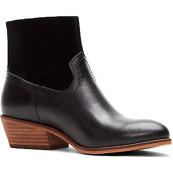 Frye and Co. Womens Rubie zip Almond Toe Ankle Clog Boots