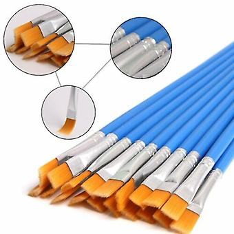 32pcs/set, Multiple Use- Flat Painting Brush For Beginners And Professionals
