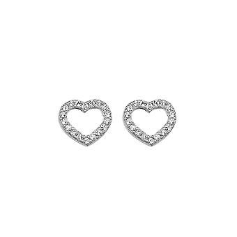 Hete diamanten Bliss Heart oorbellen DE535